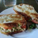 Very tasty grilled chicken basil sandwich