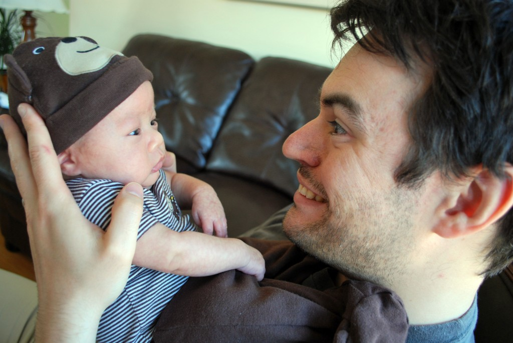Miles and Daddy